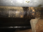 Leaking Sewer Drainage Pipe